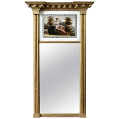 Federal Mirror with Églomisé Panel