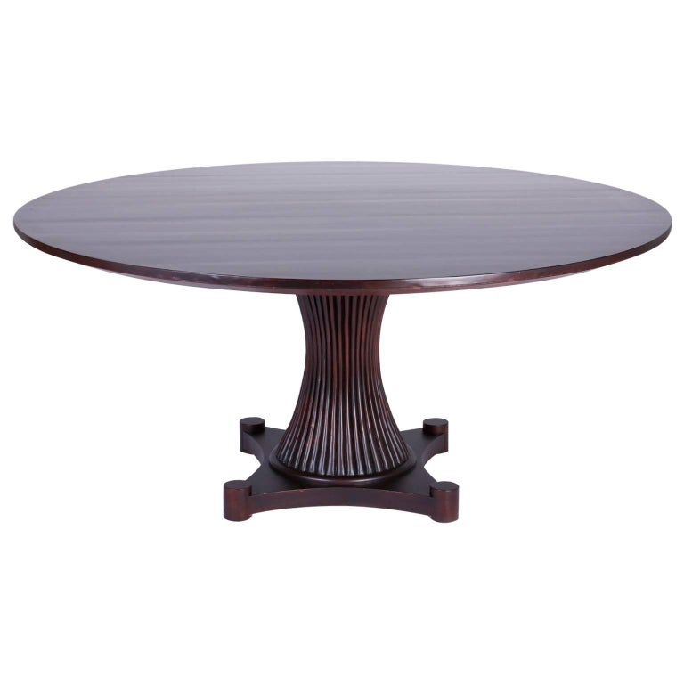 Midcentury Mahogany Round Top Dining Table For Sale at 1stdibs : 8958253master from www.1stdibs.com size 768 x 768 jpeg 25kB