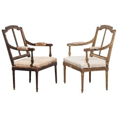 Near Pair of French Ladies Bedroom Chairs