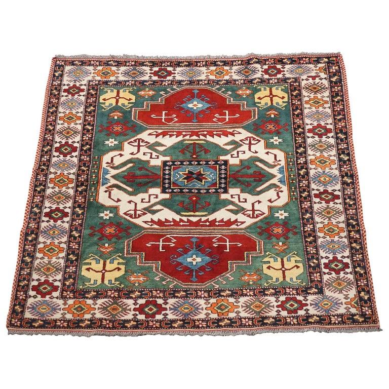 Fine Pak Kazak Square Rug For Sale At 1stdibs
