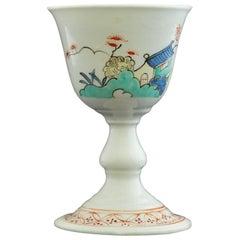 Porcelain Egg Cup, Kakiemon decoration. Chantilly C1735.