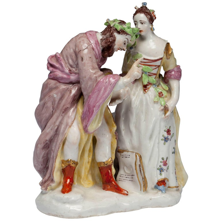 Fortune Teller Figure. Bow Porcelain C1750