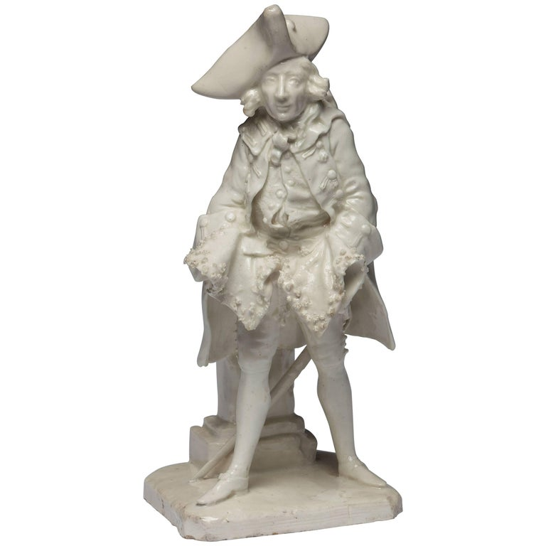 Henry Woodward Figure. Bow Porcelain C1749 For Sale