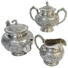 Chinese Export Tea Set Kwan Wo