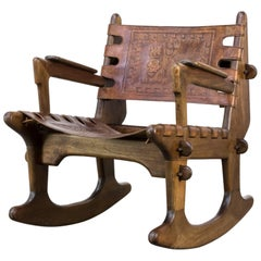 Angel Pazmino Rocking Chair Leather