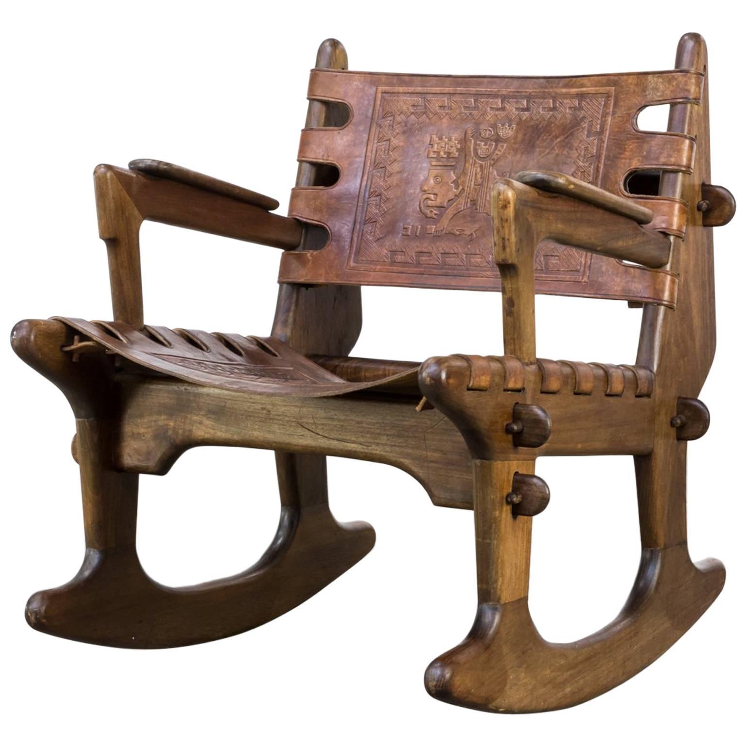 Angel Pazmino Rocking Chair Leather