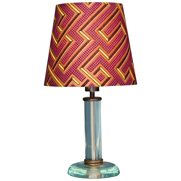 Vintage Fontana Arte Glass Table Lamp 1