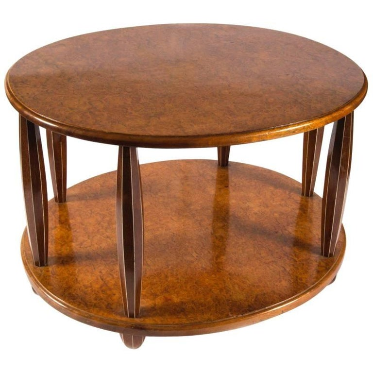 Oval Coffee Table by Jules Leleu, circa 1930