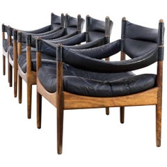 1960s Kristian Solmer Vedel Lounge Chairs for Søren Willadsen, Set of Four