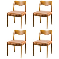 1950s Niels Otto Møller Nr 71 Dining Chair, Set of Four