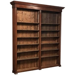 Grand 19th Century French Louis Philippe Period Open Bookcase