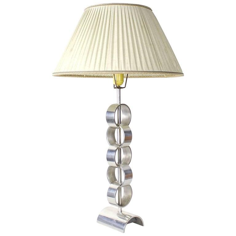 Midcentury Aluminium Table Lamp