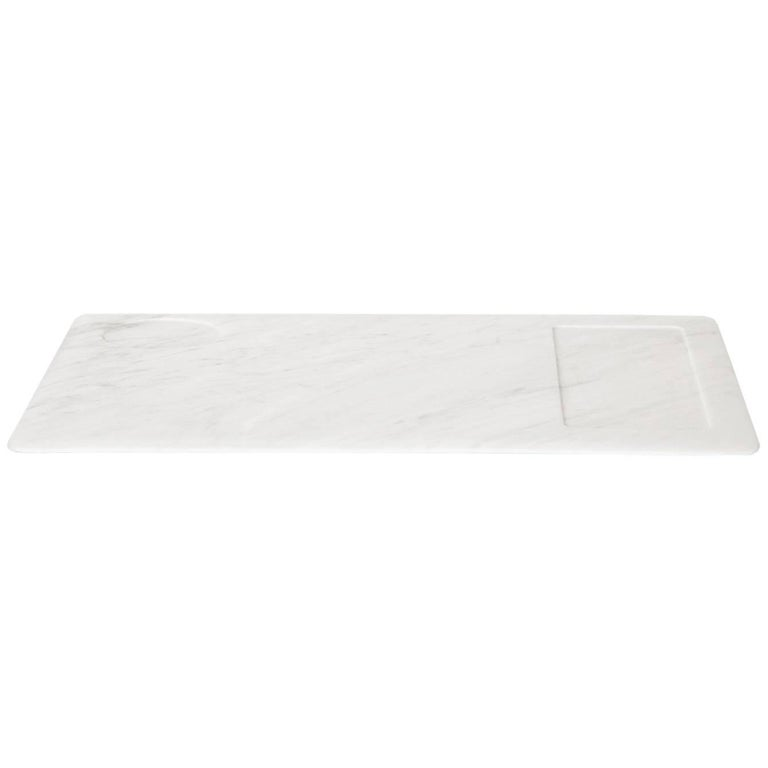 Tray in White Carrara Marble by Studioformart, Italy