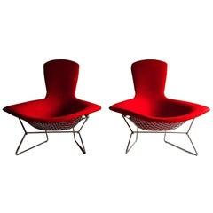 Pair of Harry Bertoia High Back 'Bird Chairs', Knoll International