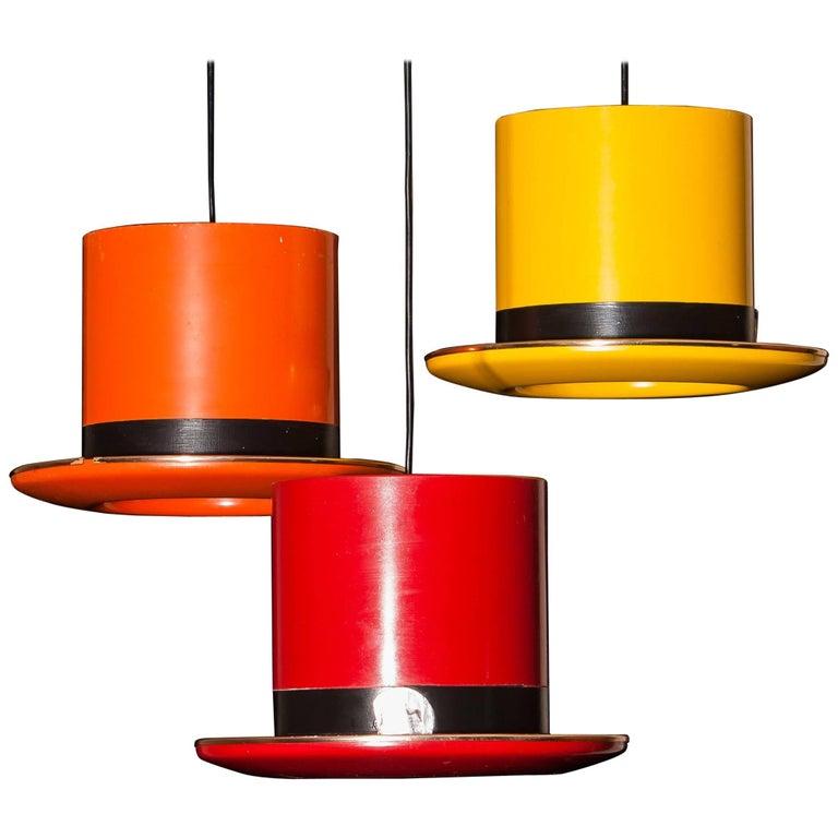 "1960s ""Hats"" Pendant by Hans-Agne Jakobsson Markaryd, Sweden"