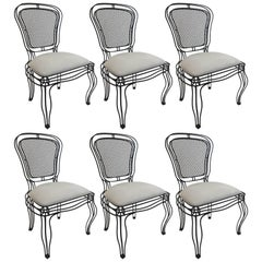 Casamidy Black Powder Coated Iron Manchez Chairs
