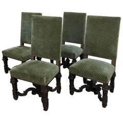 Set of Four 19th Century French Louis XIV Chairs