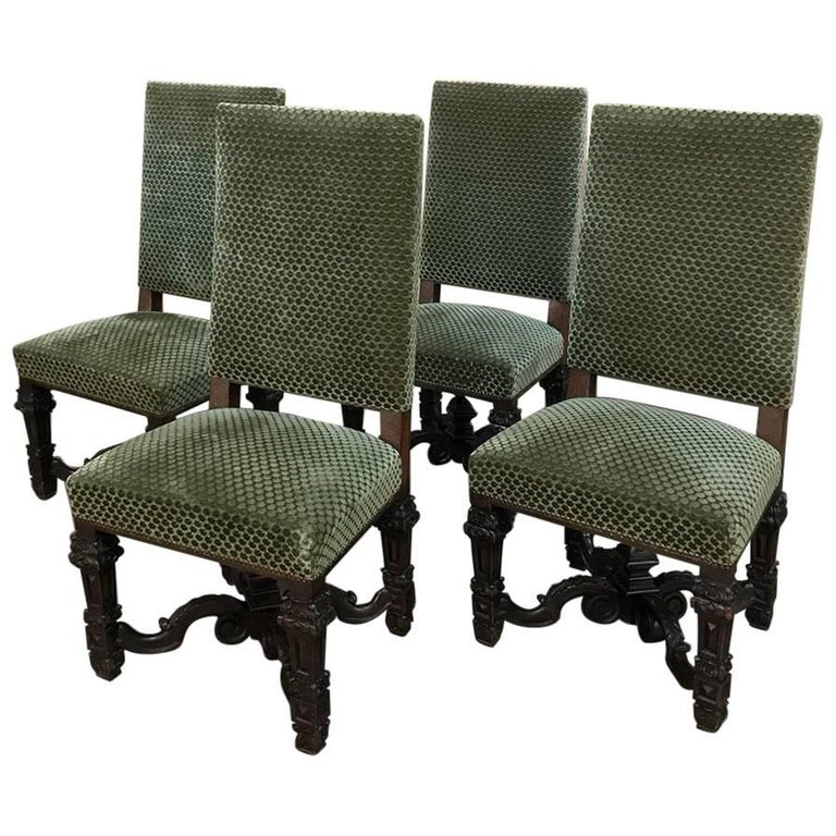 Set of four 19th century french louis xiv chairs for sale at 1stdibs - Louis th chairs ...