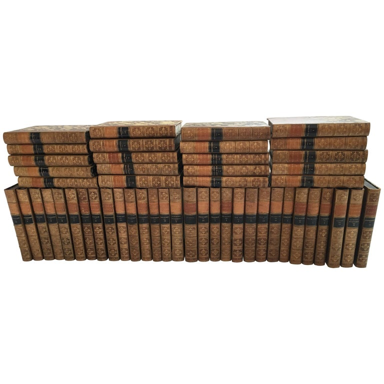 Waverley Novels in 50 Volumes by Sir Walter Scott, Boston, 1857 For Sale