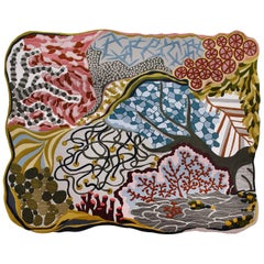 Angela Adams Ocean Floor Area Rug & Tapestry, One-of-a-kind, Handcrafted, Modern