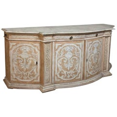19th Century Venetian Painted Bow Front Buffet