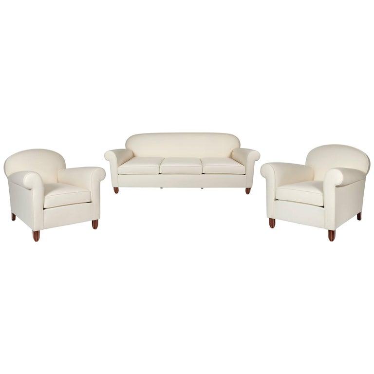 Sofa and Pair of Armchairs by Jules Leleu, circa 1930