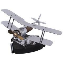 1930s Model Biplane Desk Lamp