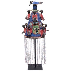 Yoruba Royal Beaded Headdress