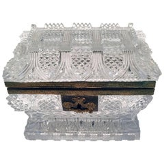 French Cut Lead Crystal Dresser Casket