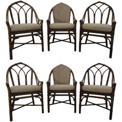 McGuire Furniture Set of Six Dining Chairs