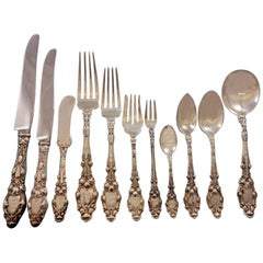 "Virginiana by Gorham Sterling Silver Flatware Set Service 132 Pieces ""P"" Mono"