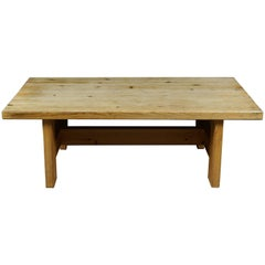 Solid Pine Coffee Table from Sweden, circa 1960