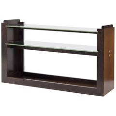 Mahogany and Glass Console by André Sornay, France, 1930s