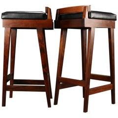 Pair of Midcentury Danish Rosewood Bar Stools by Erik Buck for Dyrlund