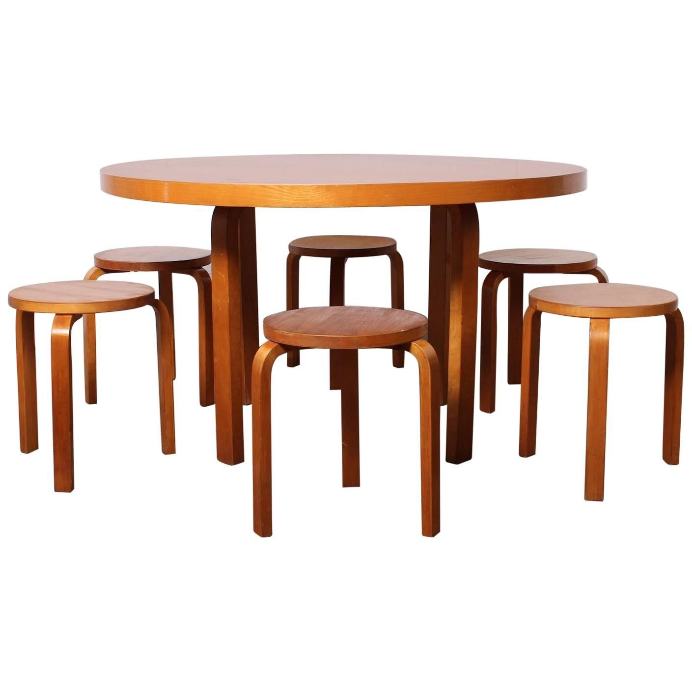 Alvar Aalto Table And Stools 1