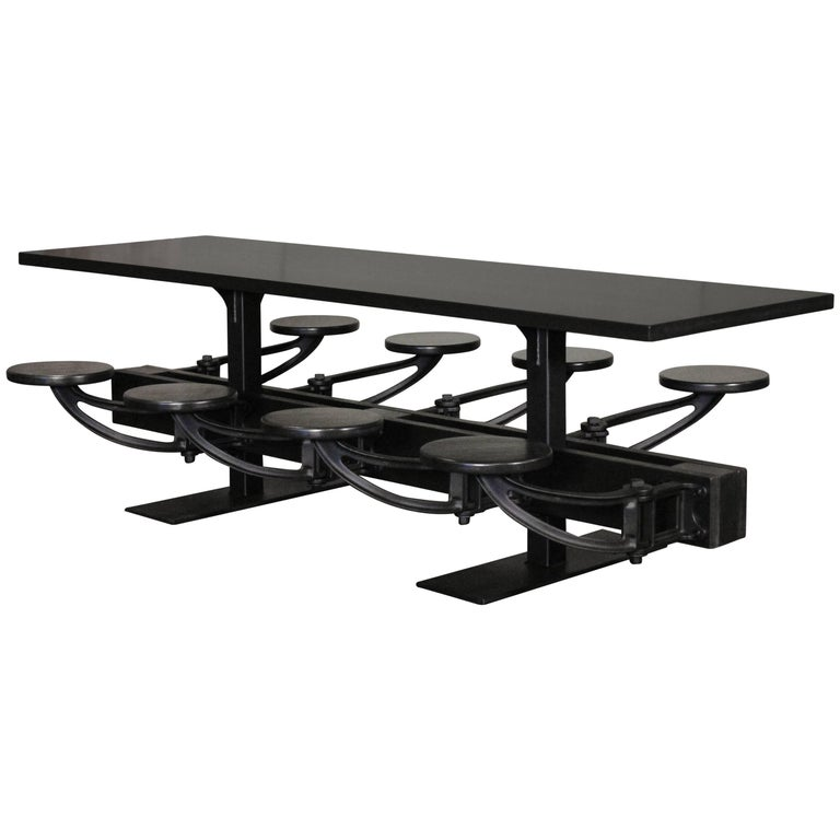 All Black Indoor / Outdoor Cafe Restaurant Table