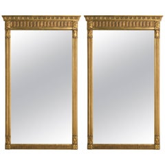 Pair of 1960s Regency Style Wood Gilt Mirrors
