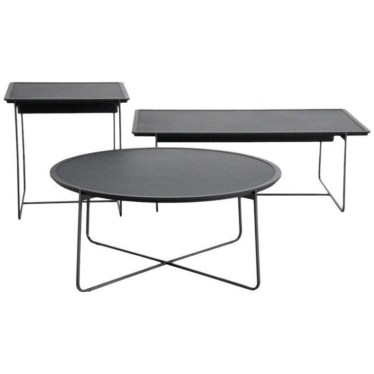 """""""Grand Cuvee"""" Low Rectangular Side Table by Stephane Lebrun for Dessie For Sale"""