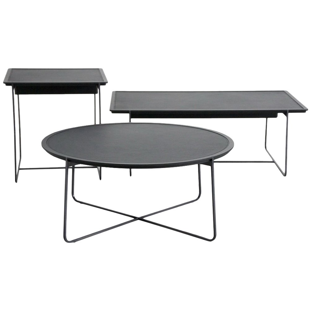 """""""Grand Cuvee"""" Low Rectangular Side Table by Stephane Lebrun for Dessie"""