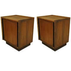 "Pair of Mid-Century Modern Walnut Nightstands ""Esprit"" by Dillingham"