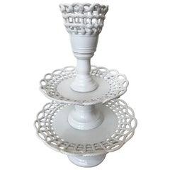 Blanche de Chine Three-Tiered Candy Dish