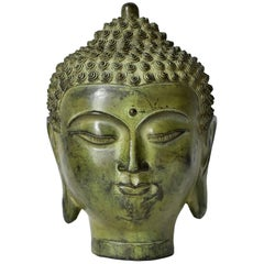 Large Bronze Buddha Head, Tang Dynasty Style