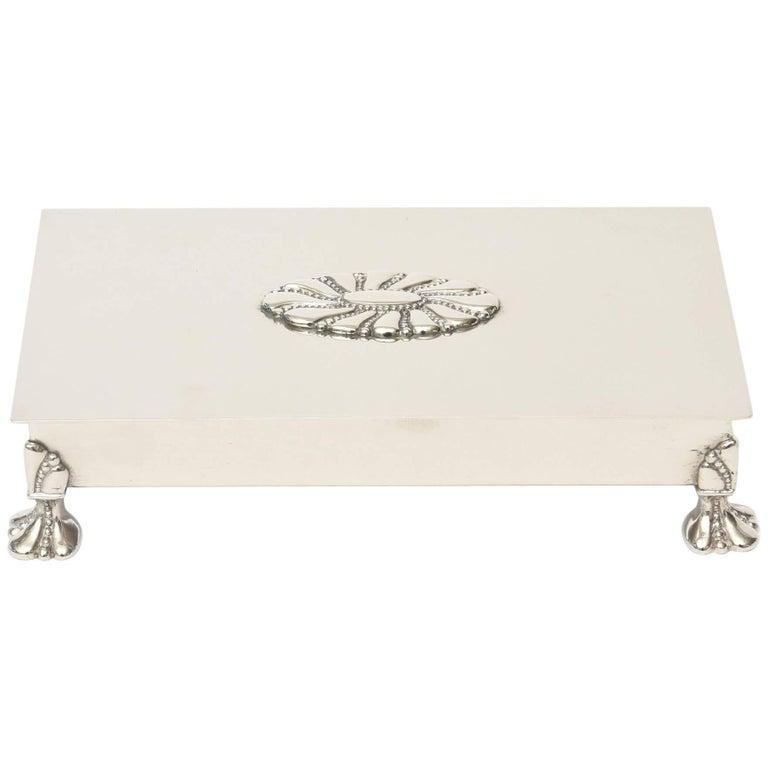 Vintage Silver Plate Hinged Box/ SAT. SALE