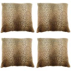 Four Leopard Print Pillows