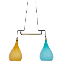 Double Colored Glass Italian Pendant