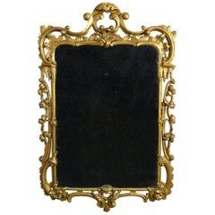 Mid-18th Century George III Period Giltwood Rococo Mirror