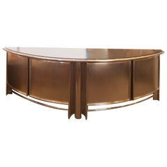 Midcentury French Industrial Wood, Steel and Chrome Buffet