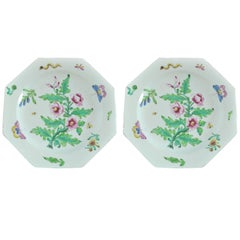 Pair of Botanical Bow Porcelain Plates