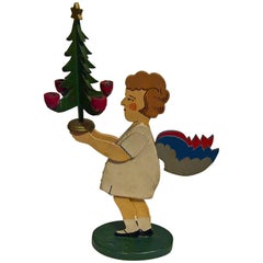 Mid-20th Century Christmas Angel Figure from Erzgebirge