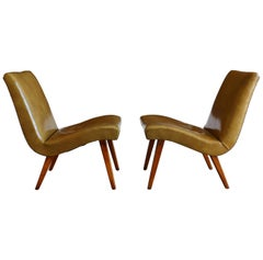 Early Pair of Lounge Chairs by Jens Risom for Knoll